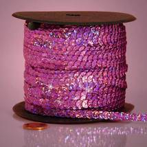 5 yards 6mm Pink Holographic Sequins Ribbon - $5.00