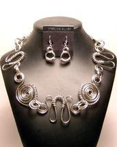 Sterling Silver Spirals & Swirls Necklace Earrings Set MADE IN USA - $395.00