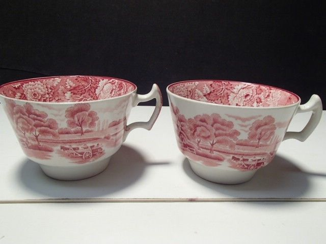 Enoch Woods English Scenery Pink By Woods /& Sons Saucer