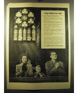 1949 U.S. Army and U.S. Air Force Ad - Living Symbols of our Faith - $14.99
