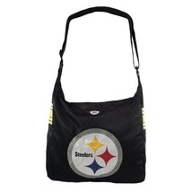 NFL Pittsburgh Steelers Team Jersey Tote Bag Cross Fabric Bag Teal Black - $28.70