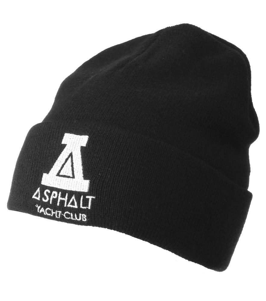 Asphalt Yacht Club Mens Black Solid Triangle Cuff Fold Skate Beanie Winter Hat