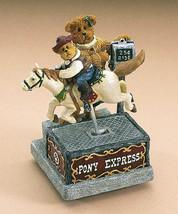 "Boyds Bearstone ""Momma Mcbear & Bronco Bobby...Ride 'Em Cowboy"" #2277800 Le Nib - $36.99"