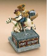 "Boyds Bearstone ""MOMMA MCBEAR & BRONCO BOBBY...RIDE 'EM COWBOY"" #2277800... - $36.99"