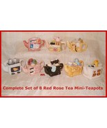 Complete Set of 8 Mini-teapots   From Canadian ... - $71.50