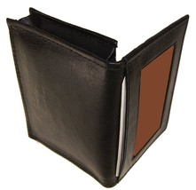 Leather Expandable Gusset Credit Card with Outside Window I - $24.54