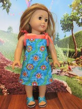 """homemade 18"""" american girl/madame alexander turtle lea sundress doll clothes - $16.04"""