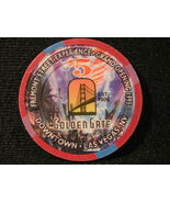 "$5.00 CASINO CHIP FROM: ""THE GOLDEN GATE HOTEL & CASINO"" - (sku# 2511) - $9.99"