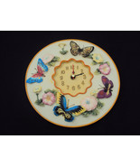 Butterfly w/Flowers Clock, Baby's Room Clock, Kitchen or Garden Clock,Free Ship - $13.68