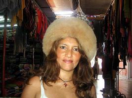Brown pelt hat, Babyalpaca fur, fur cap, - $92.00