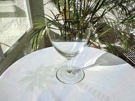 Fostoria Beloved Pattern Wine Glass Platinum Rim - $9.90