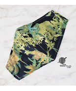 Face Mask Lilly Style Palm Trees Black Green Cotton Preppy Tropical Hand... - $10.00