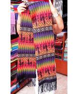 Multicolour ethnic peruvian scarf, pure Alpacawool - $66.00