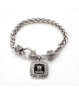 Melanoma Awareness Classic Silver Plated Square Crystal Charm Bracelet [... - $9.80