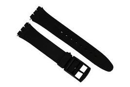 17mm Nera Morbida PVC Ricambio Fascia Cinturino per Swatch Orologi - $7.87