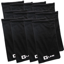 1 to 12 Pack Black Microfiber Pouch Bag Soft Cleaning Case Sunglasses Ey... - $3.99+