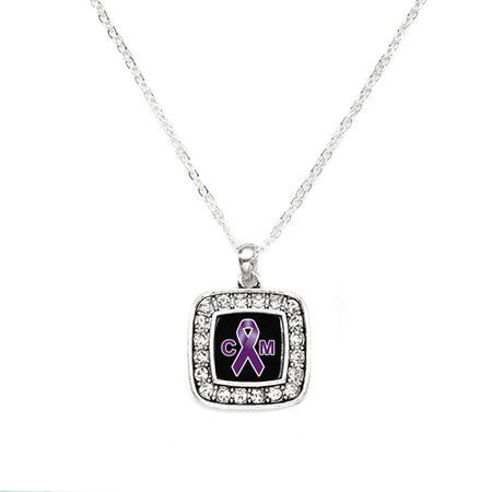 Primary image for Chiari Malformation Awareness Classic Silver Plated Square Crystal Necklace