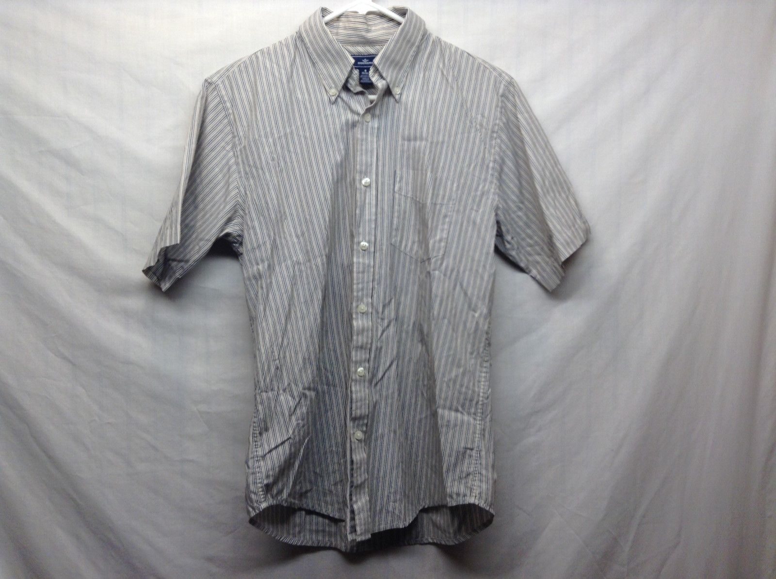 Dockers Short Sleeve Dark Blue Collared Shirt Sz 14-14.5
