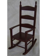Miniature Country Red Rocker Will Hold a 8 Inch... - $25.00