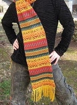 Scarf, shawl made of alpacawool, 51.1 x 8.2 Inches - $48.00
