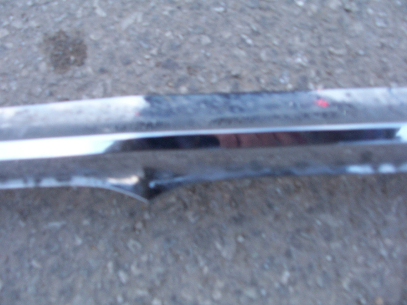1962 MONTEREY HOOD FRONT GRILL TOP TRIM  OEM USED PITTED  ORIGINAL MERCURY
