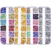 Nail Rhinestones kit Multi-size Gems Metal Nail Rivets Studs (3, 4 or 5 boxes)
