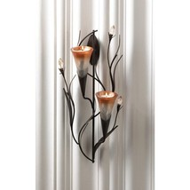 Dawn Lilies Candle Wall Sconce - $26.00