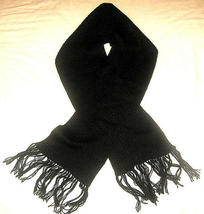 Black scarf, made of Alpacawool, 51.2 x 8.2 Inches  - ₹3,225.20 INR