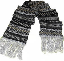 Ethnic peruvian scarf made of alpacawool, 62.9 x 9.8 - ₹3,375.20 INR