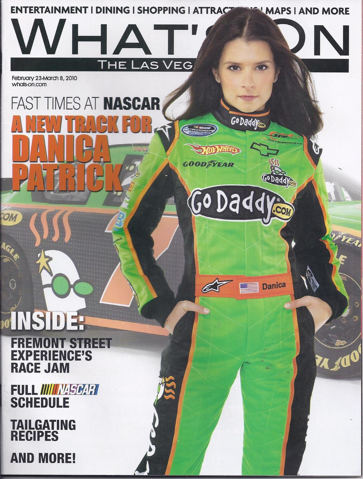 Primary image for DANICA PATRICK - NASCAR   @ WHATS ON Las Vegas Magazine 2008