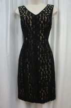 Anne Klein Dress Sz 4 Black Sleeveless Embellished Business Dinner Cockt... - $69.26