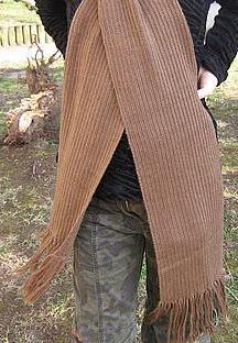 Primary image for Brown scarf,shawl made of  Alpacawool,