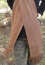 Brown scarf,shawl made of  Alpacawool, - $38.00