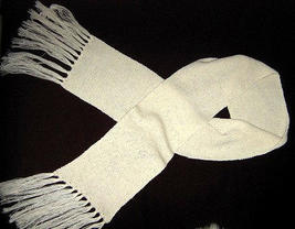 white scarf,shawl made with Alpacawool, 62x8 Inches  - ₹3,225.20 INR