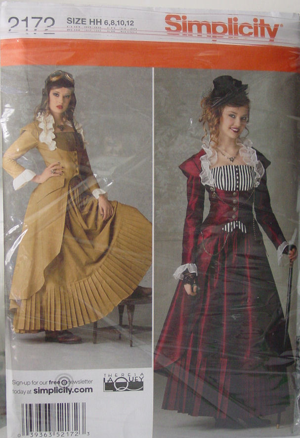 Pattern 2172 Multi sz 6-12 Steampunk Victorian Women's Costume
