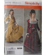 Pattern 2172 Multi sz 6-12 Steampunk Victorian Women's Costume - $5.99