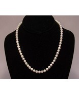 Cultured Pearls Strand 18 IN 7mm Creamy White 14K Gold Clasp - $175.00