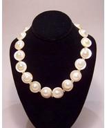Genuine Blister Pearls Strand Creamy White, 14K... - $895.00