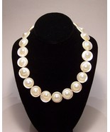 Genuine Blister Pearls Strand Creamy White, Ste... - $375.00