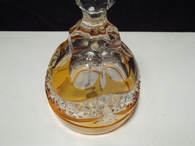 VINTAGE GORGEOUS CUT TO CLEAR CRYSTAL BELL~~must see this one