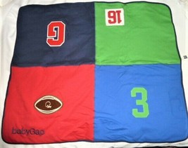 Baby Gap Rugby Square Block Patchwork Stripe Red Navy Blue Green Boy Blanket - $68.80