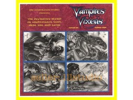 Scarce PROMO SELL Sheet~SIGNED Don Paresi VAMPIRES & VIXENS 4 Card - $14.75
