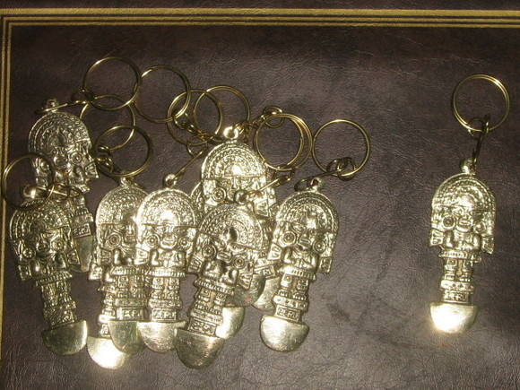 24 peruvian keyholder, Tumi Inka godness, wholesale