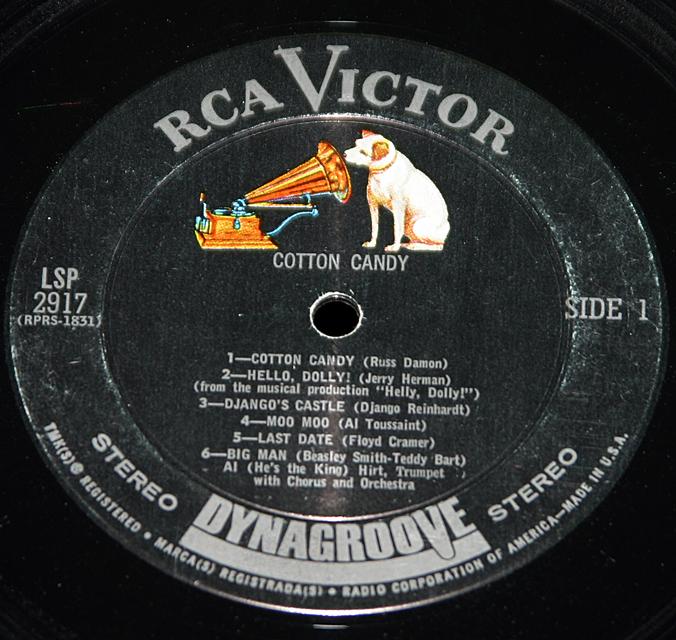 """Al Hirt """"Cotton Candy""""  LP"""