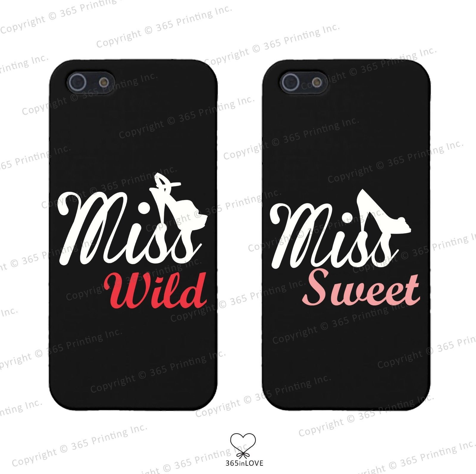 Primary image for Miss Wild & Miss Sweet w/ Shoes BFF Phone Covers - iphone 4 5 5C Galaxy S3 S4 S5