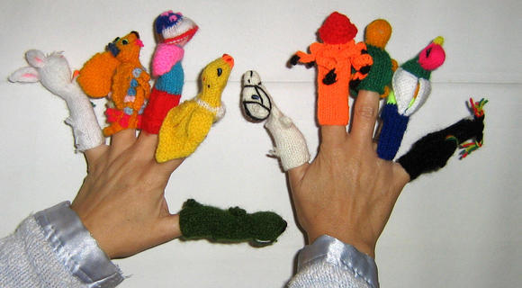 500 Finger puppets, handknitted in Peru,whoelsale