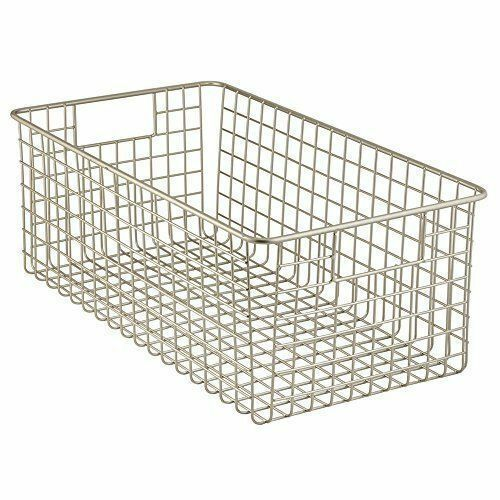 Wire Basket Organizer Foods Utility Deep Storage Pantry Household Supplies NEW