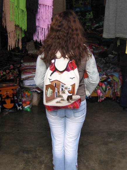 Backpack,Rucksack, Alpacawool,peruvian motive