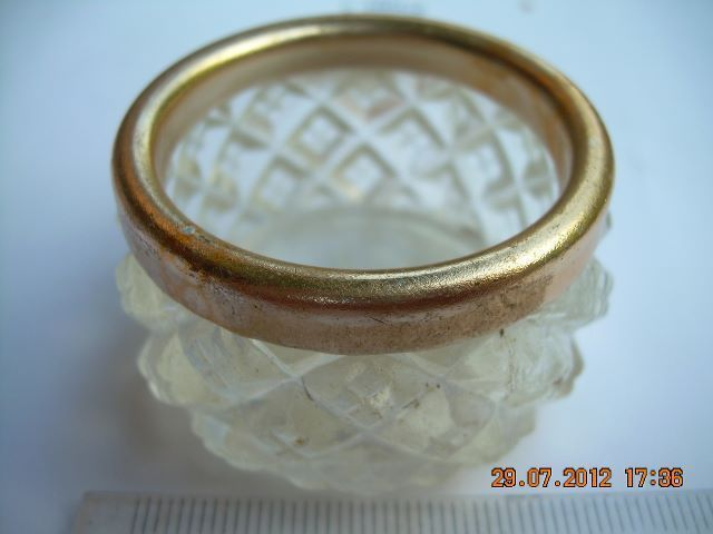 Primary image for Rare Vintage USSR Soviet Russian Plastic With Metal Ring Salt Cellar About 1960