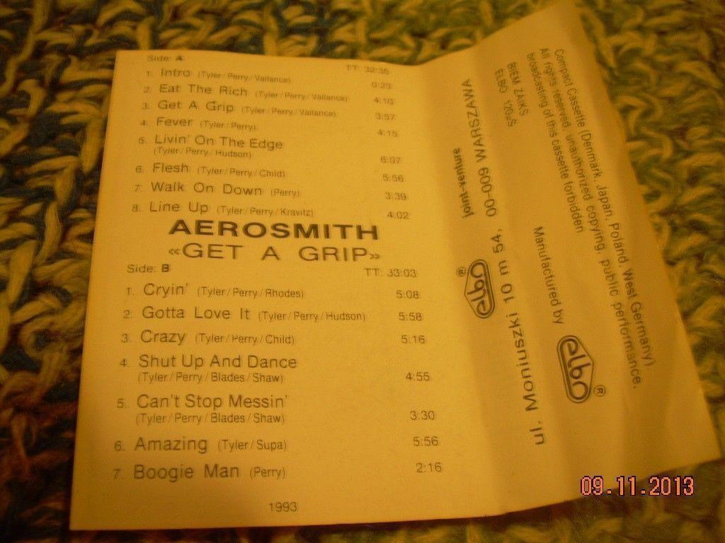 Aerosmith Get A Grip Cassette  Polish Poland Press
